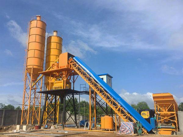 Planta de hormigón estacionaria AJ-60 en Sri Lanka