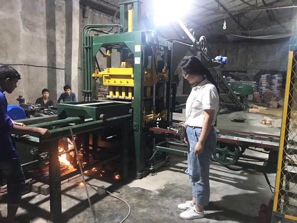ABM-3S hollow bricks machine in Bangladesh