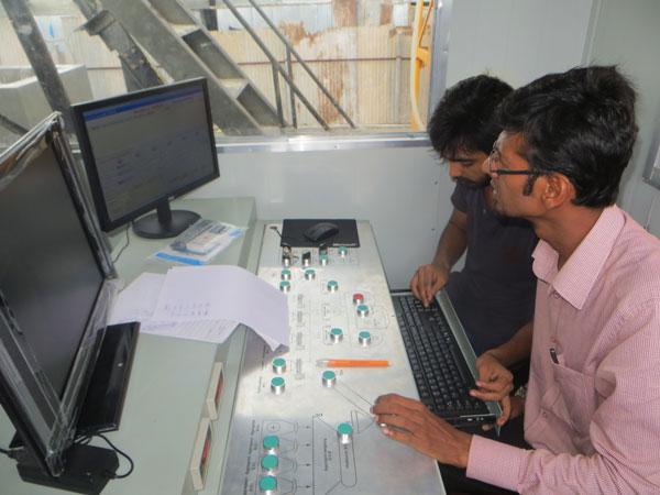AJ-35 concrete plant control system