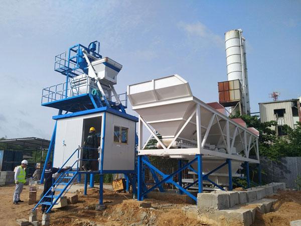 AJ-50 concrete batching plant Sri Lanka