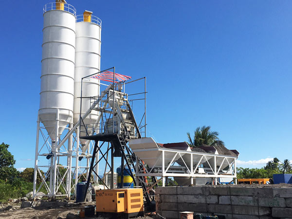 AJ-50 stationary concrete plant Philippines