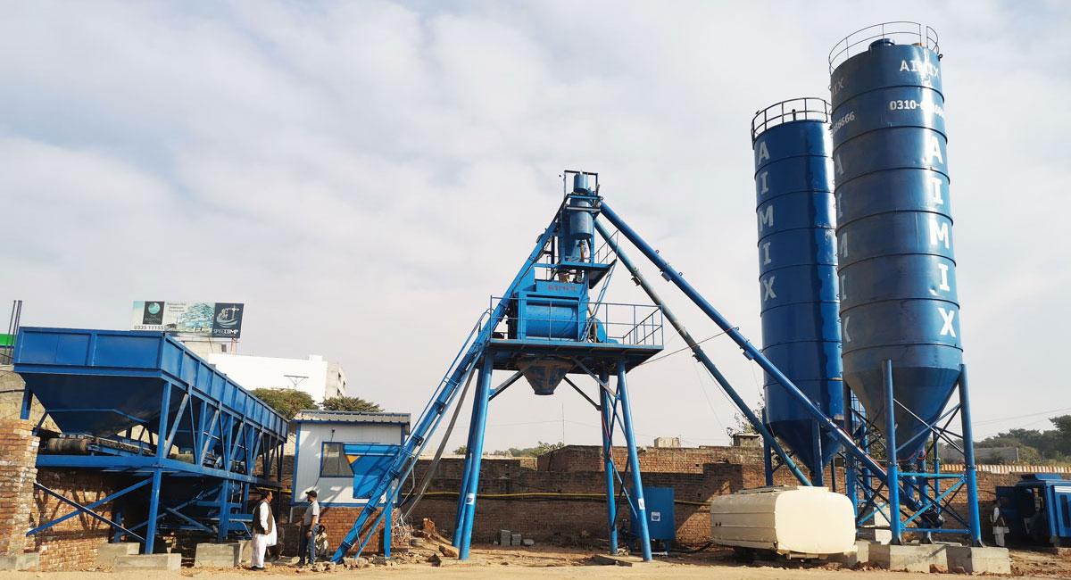 AJ-50 ready mix concrete batch plant Pakistan