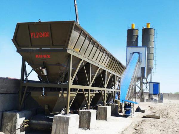 AJ-90 belt concrete batching plant Uzbekistan