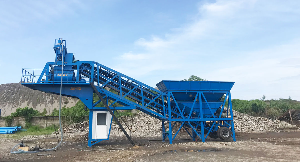 AJY-35 mini mobile concrete plant philippines