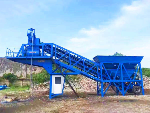 AJY-35 mobile concrete batching plant Philippines