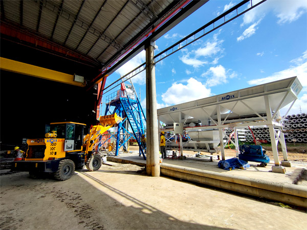 install AJ-25 batching plant in the Philippines