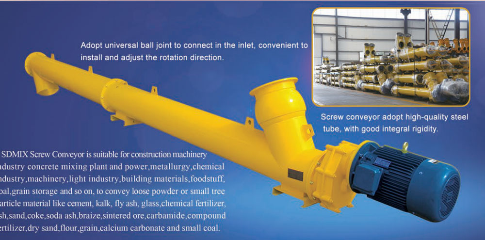 screw conveyor in concrete batching plant