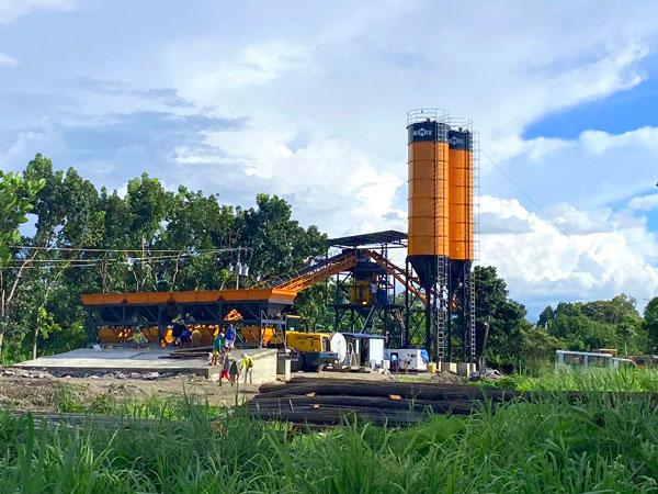 test run of concrete plant AJ-60 in the Philippines