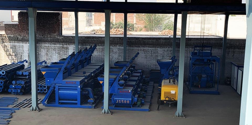 twin-shaft concrete mixer factory