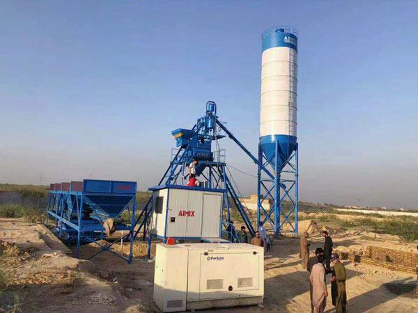 AJ-25 hopper type concrete plant