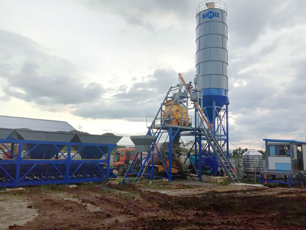 AJ-75 hopper batching plant in the Philippines