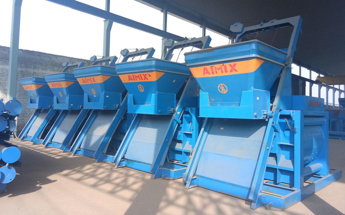 JS series twin-shaft mixers