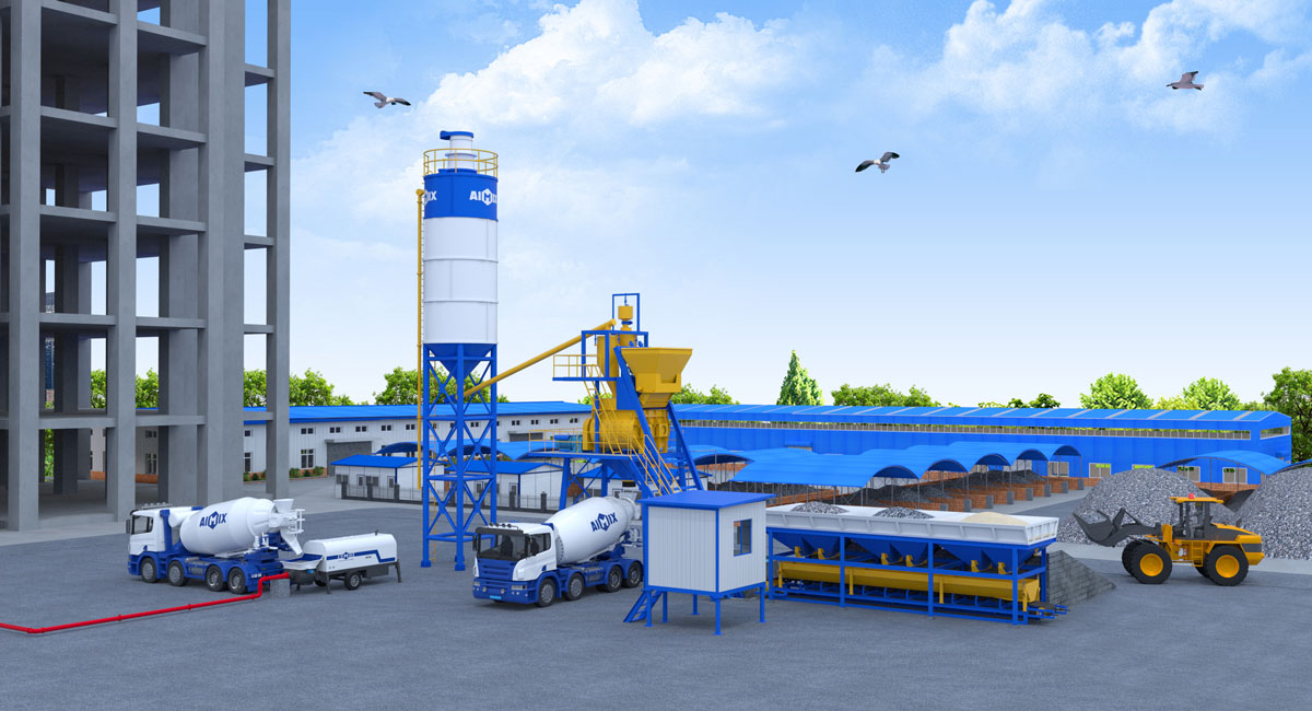 hopper type batching plant in AIMIX GROUP
