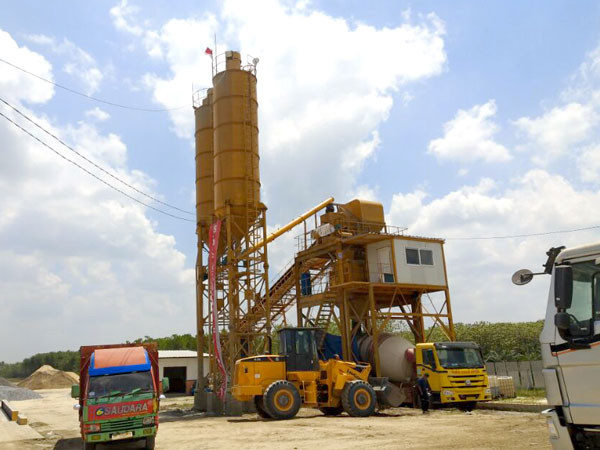 AJ-90 batching plant from Indonesia