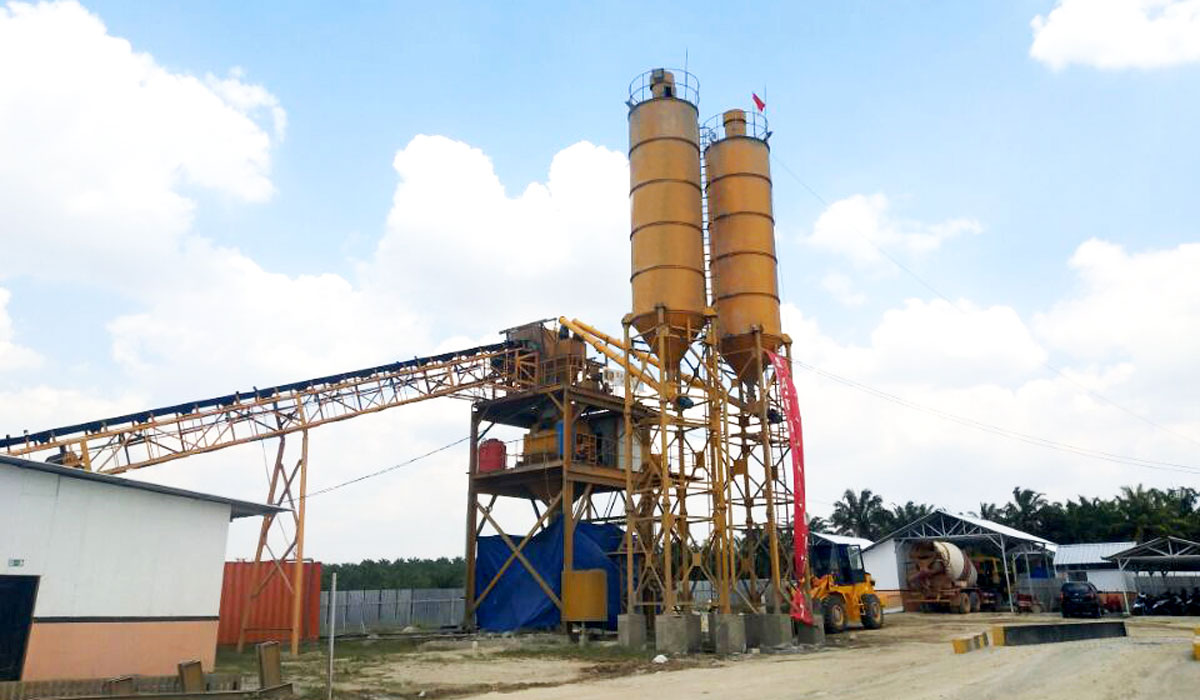 AJ-90 batching plant installed in Indonesia