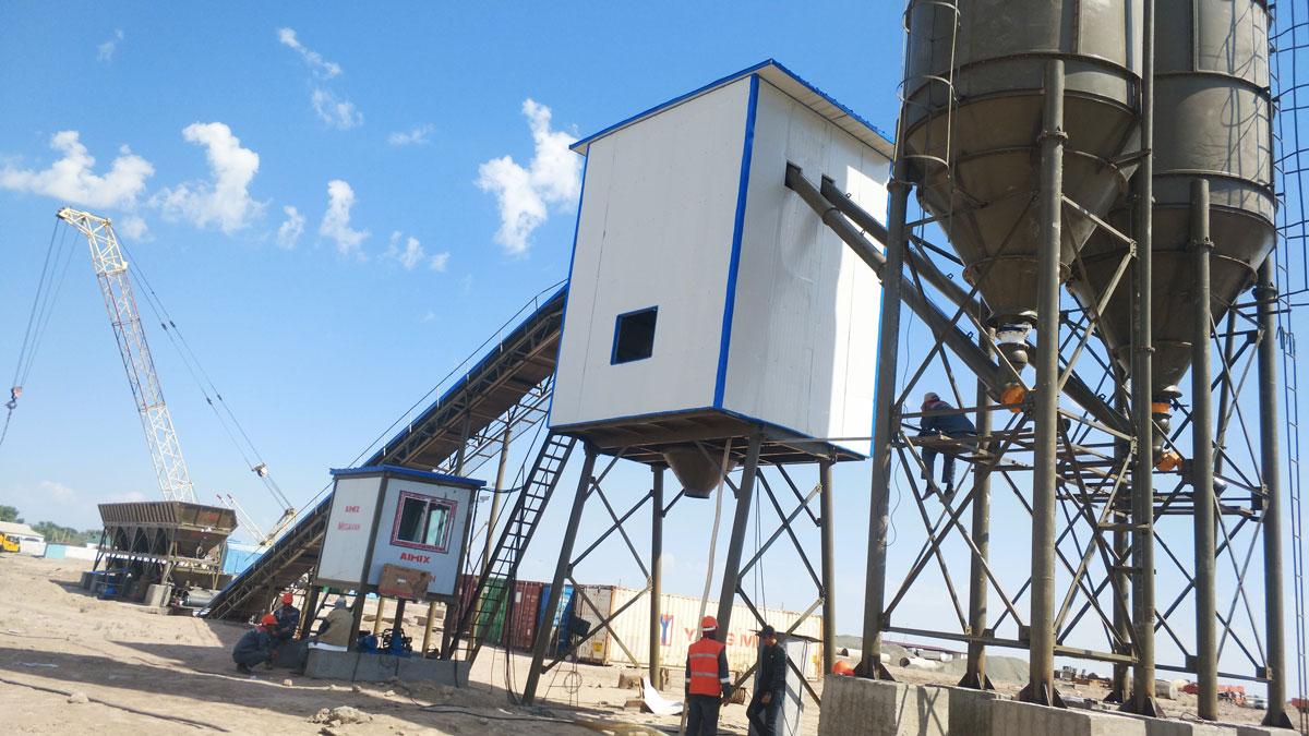 AJ-90 concrete plant Uzbekistan