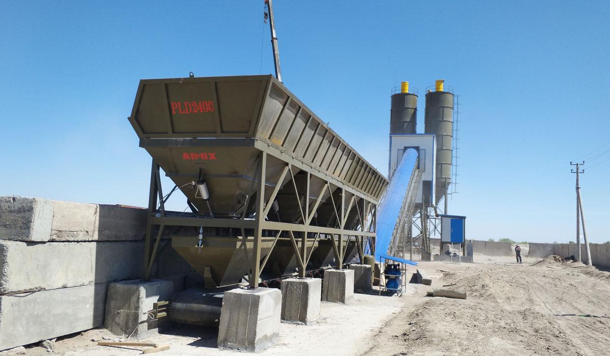 Install AJ-90 batching plant in Uzbekistan